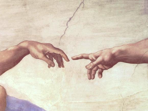 Michel-Ange. Le doigt de Dieu.