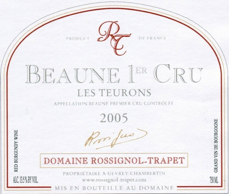 ROSSIGNOL-TRAPET. BEAUNE TEURONS 2004.