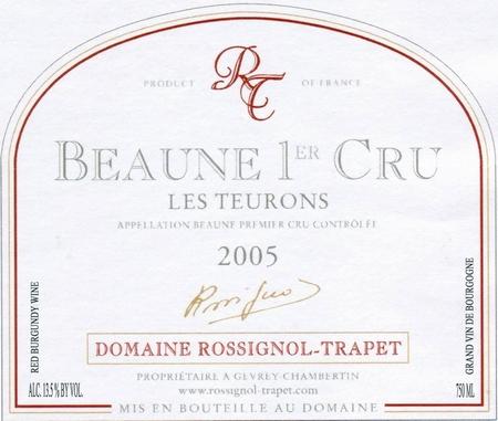 ROSSIGNOL-TRAPET. BEAUNE TEURONS 2004.