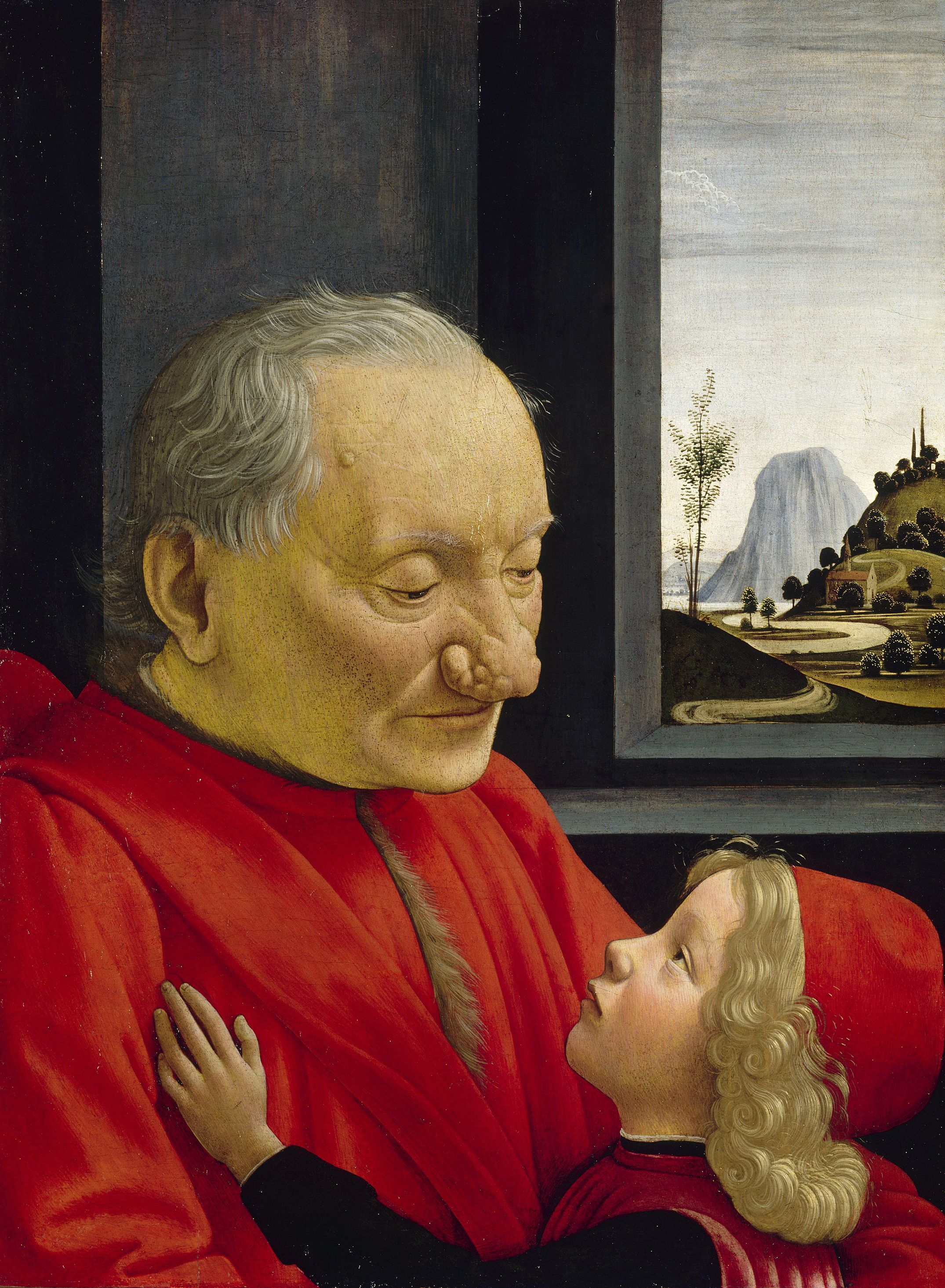 Portrait d'un vieillard et d'un jeune enfant, Ghirlandaio - 1490