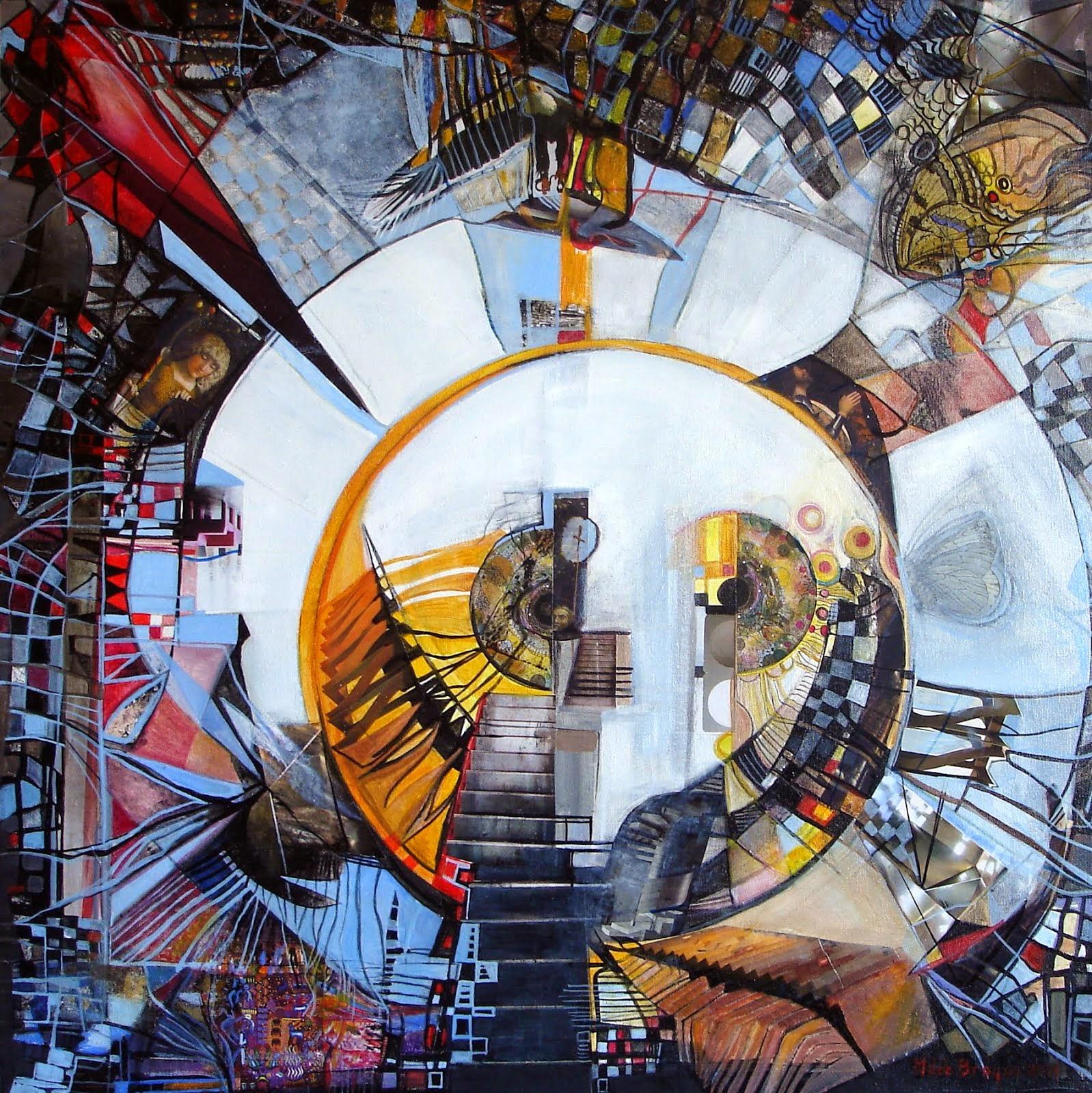 MARIE-JOELLE DE BROQUA. Le don de l'aigle - 60 x 60 cm - 2014